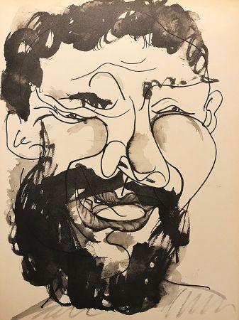 Aucune Technique Picasso (After) - Homme barbu souriant