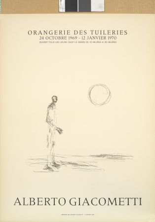 Lithographie Giacometti - Homme debout et soleil