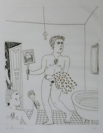 Pointe-Sèche Fassianos - Homme sortant du bain