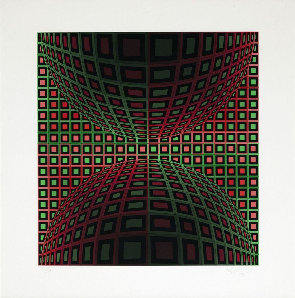 Sérigraphie Vasarely - Homok