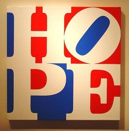 Sérigraphie Indiana - HOPE  W/R/B