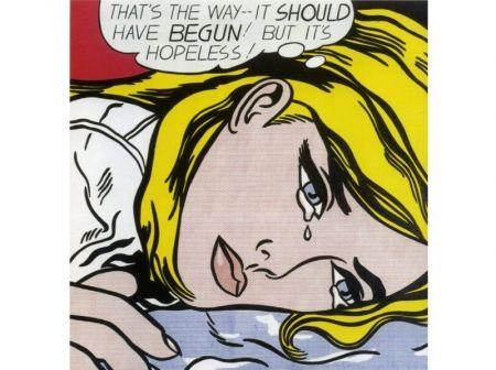 Sérigraphie Lichtenstein - Hopeless