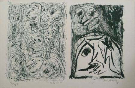 Lithographie Alechinsky - Hors Texte Vii - Viii