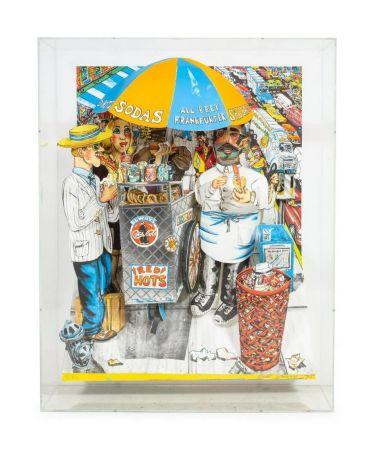 Lithographie Grooms - Hot Dog vendor