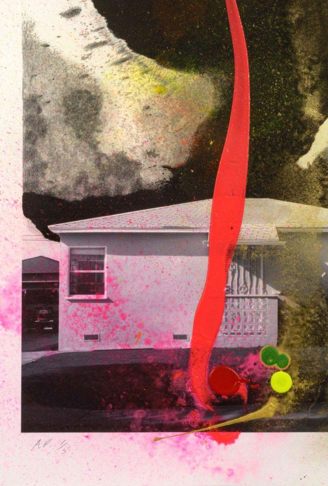 Lithographie Goode - House Tornado (11521)