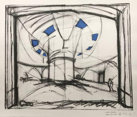 Sérigraphie Buraglio - Hubert Robert – Bleu gauloise
