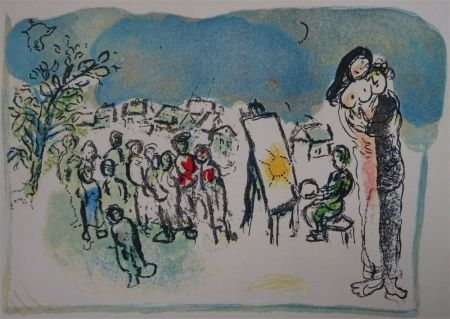 Lithographie Chagall - Humanisme activ