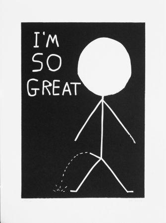 Linogravure Shrigley - I am so great