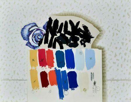 Lithographie Pozzati - I campioni colorati