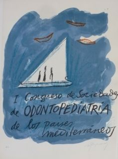 Lithographie Ràfols Casamada - I CONGRESO DE SOCIEDADA DE ODONTOPEDIATRIA