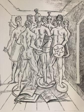 Lithographie De Chirico - I gladiatori