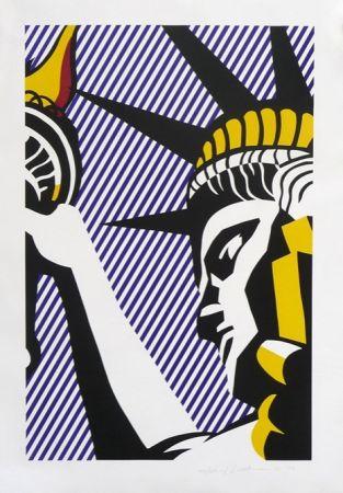Sérigraphie Lichtenstein - I Love Liberty