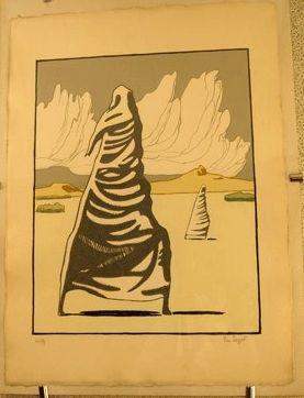 Lithographie Buzzati - I maghi d'autunno