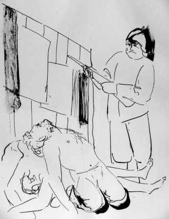 Lithographie Manzu - I martiri di Piazza Loreto