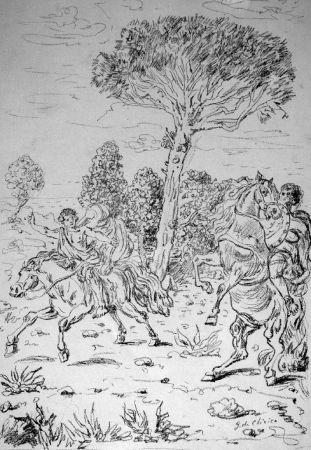 Lithographie De Chirico - I monomachi