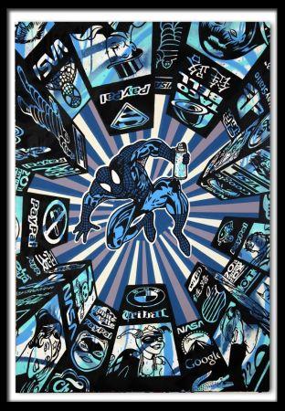 Sérigraphie Speedy Graphito - I Spray My City (Blue)