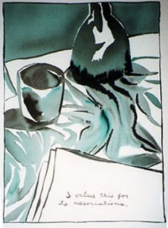 Sérigraphie Pettibon - I Value This For It's Associations