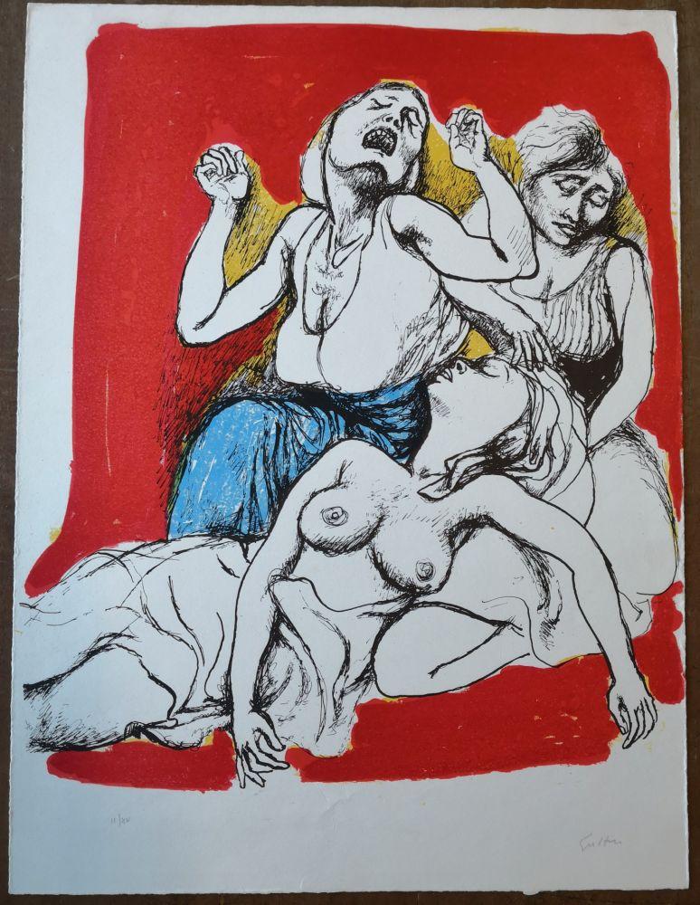 Lithographie Guttuso - I Vespri Siciliani
