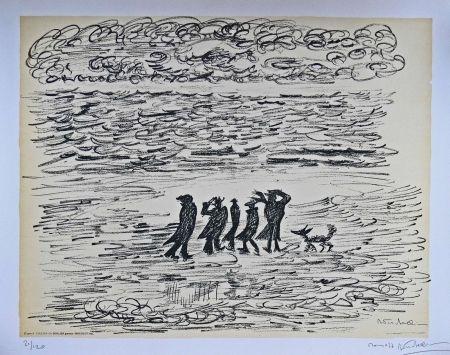 Lithographie Fellini - I VITELLONI - Lithographie Originale / Original Lithograph / Litografia Originale
