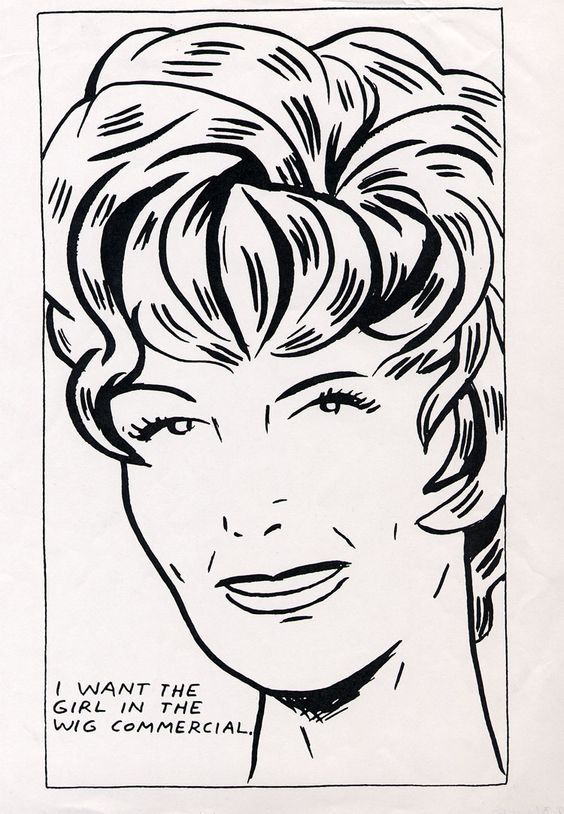 Sérigraphie Pettibon - I Want To Be The Girl In The Wig Commercial