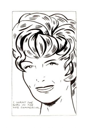 Lithographie Pettibon - I Want to be the Girl in the Wig Commercial