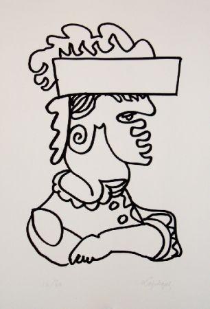 Lithographie Lapicque - Iago