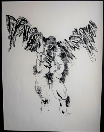 Lithographie Baskin - Icarus