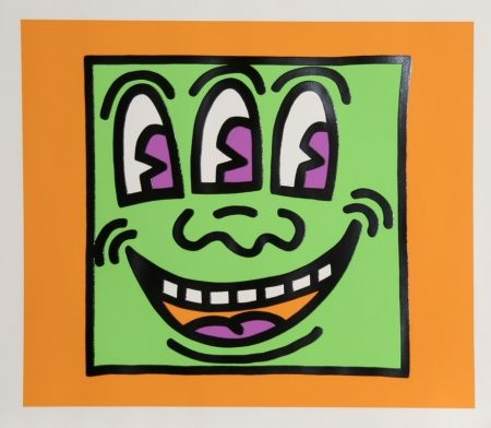 Sérigraphie Haring - Icons - Three Eyes