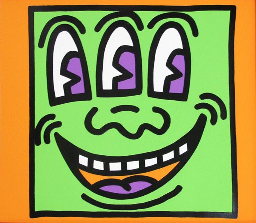 Sérigraphie Haring - Icons (E) - Three Eyed Man
