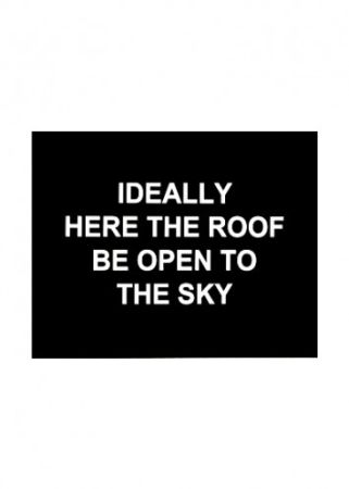 Gravure Prouvost  - Idealy here the roof be open to the sky