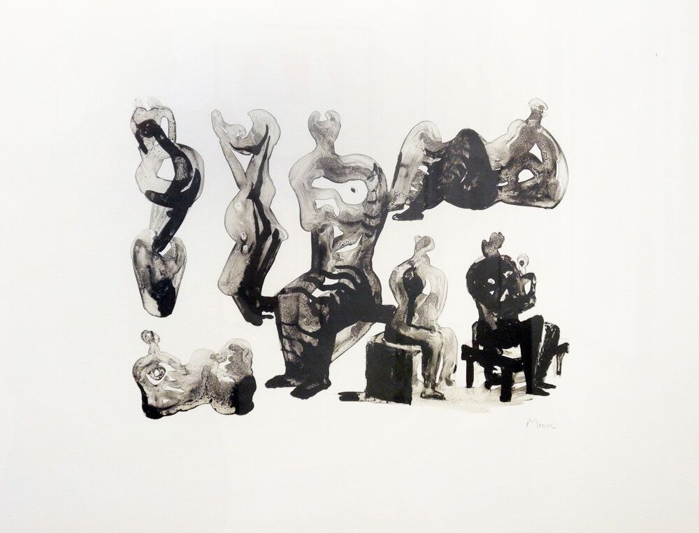 Lithographie Moore - Ideas for sculptures C. 365