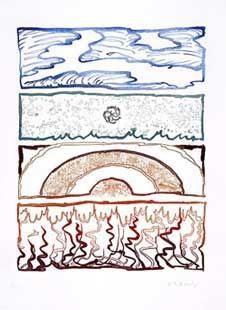 Gravure Alechinsky - Idem Polychrome