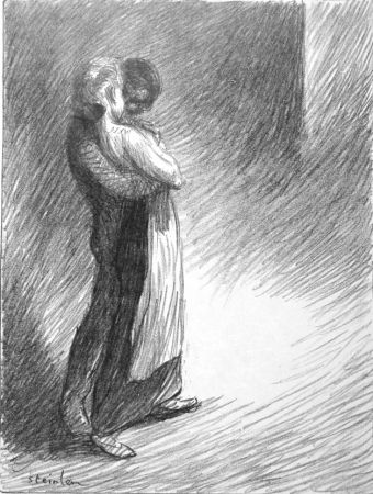 Lithographie Steinlen - Il bacio