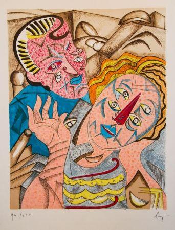 Lithographie Baj - Il Bacio I