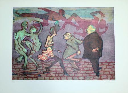 Linogravure Maccari - Il ballo