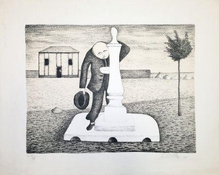 Lithographie Viviani - Il bevitore d'acqua