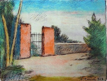 Lithographie Carra - Il cancello