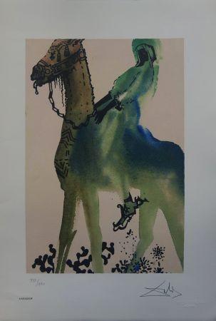 Lithographie Dali - Il Cavaliere Nero