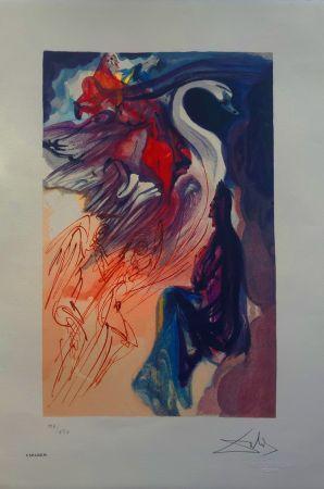 Lithographie Dali - Il Cigno