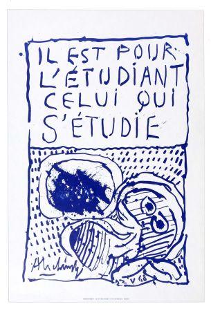 Lithographie Alechinsky - Il est pour l'étudiant, celui qui s'étudie