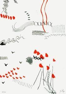 Lithographie Griffa - Il figlio dell'osso parla