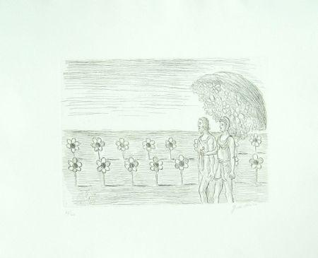Gravure De Chirico - Il giardino misterioso (Visione misteriosa, Il prato misterioso)