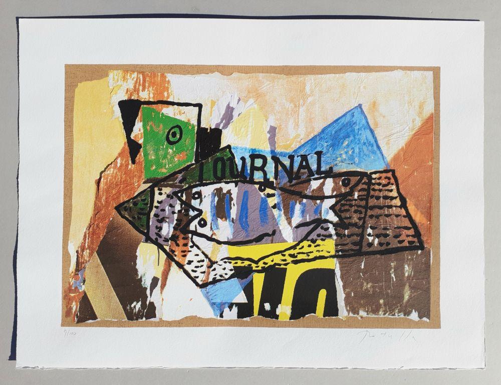 Sérigraphie Rotella - Il giornale di Picasso