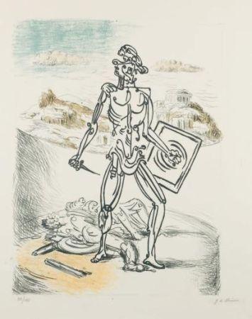 Lithographie De Chirico - Il Gladiatore