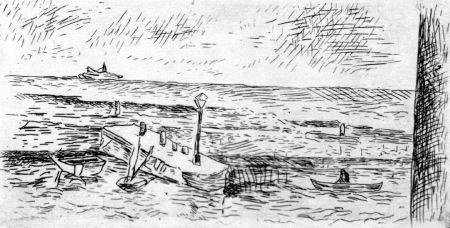 Eau-Forte Carra - Il molo di Camogli
