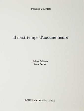 Livre Illustré Baltazar - Il n'est temps d'aucune heure