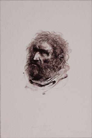 Lithographie Annigoni - Il pescatore