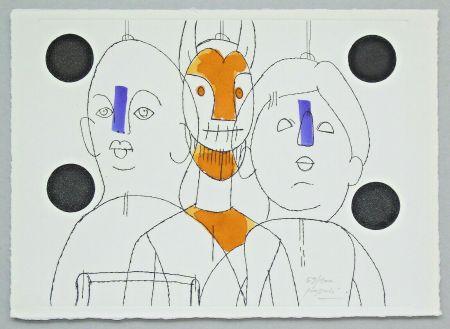 Gravure Pozzati - Il pittore è il burattinaio