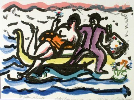 Lithographie Bartolini - Il pittore galante