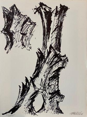 Lithographie Wotruba - Il pleuvait